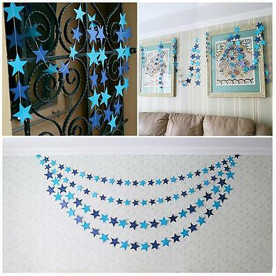 Chic Star Paper Garland Wedding Party Room Decorations Banner Supplies Props Z