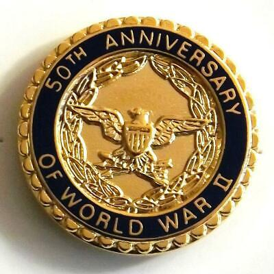 High Quality WWII World War 11 - 50th Anniversary Lapel / Hat Pin   Made USA