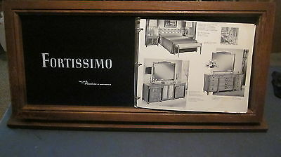 Mid Century American Of Martinsville Fortissimo Furniture Book & Display Case