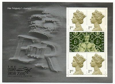 GB 2000 Her Majesty's stamps The Stamp Show MNH miniature sheet mini m/s UM