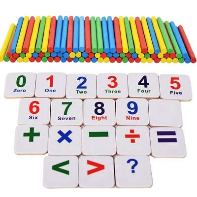 Kids Wooden Numbers Magnetic Mathematics Early Learning Counting Educational Toy