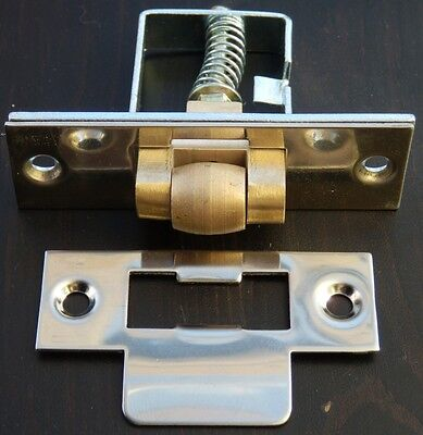 2 x NICKEL PLATED HEAVY DUTY ADJUSTABLE MORTICE ROLLER CATCHES