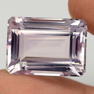 29.69 ct  VS ! Riesiger unbeh. Oktagon Facette Rose de France Amethyst