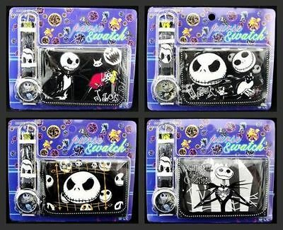 New 4 x Nightmare Before Christmas Quartz Watch and Wallet Sets Children Part