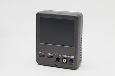 """Portable 3.5"""" TFT LCD NTSC Composite Color Monitor 320x234 Resolution"""