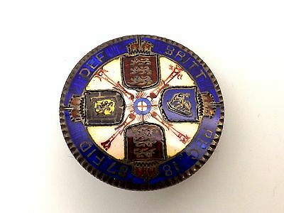Exquisite 1887 Double Florin Enamel Coin Brooch