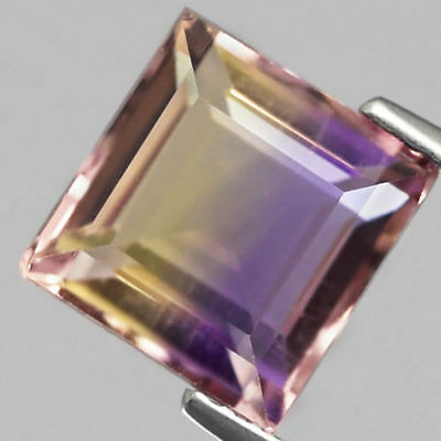 3.78 ct  Toller unbeh. 8.7 x 8.5 mm Bolivien Bi-Color Oktagon Ametrin