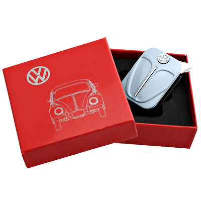 Official VW Beetle Metal Refillable Gas Lighter in gift box - Blue