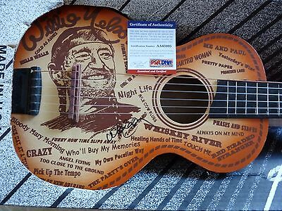 Willie Nelson Little Trigger RARE Childs Signed Autographed Guitar PSA Certified