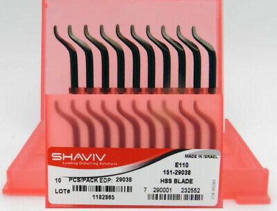 10pcs Type E110 HSS (B10 on E Shaft) RH Deburring Blades Shaviv EDP #29038