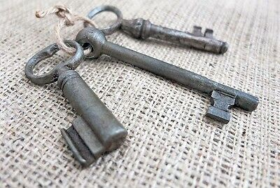 Imperial RUSSIA 3 Antique VINTAGE Iron Large Size KEYS XIX Century Set No.1