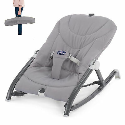 Chicco Pocket Relax Baby Bouncer Grey Multi Position Recline From Birth