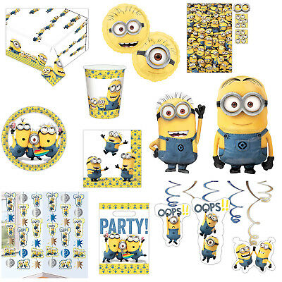 Official MINIONS Movie Children's Party Plates Cups Napkins Tableware Listing