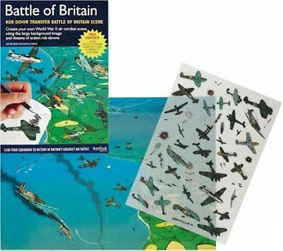 New Battle Of Britain Wwii Air Combat Rub Down Transfer Activity Pack. Westair