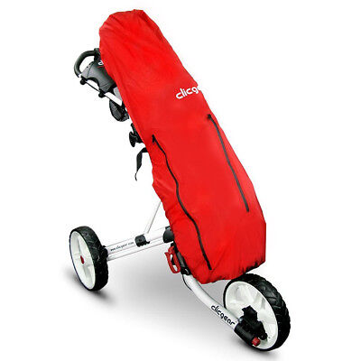 Clicgear Golf Trolley Cart Rain Cover Waterproof Bag Protection - Red