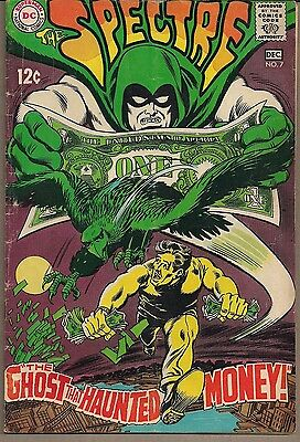 """Spectre #7 Dc 12/68 """"the Ghost That Haunted Money!"""" Hourman Back-Up Story Fine"""