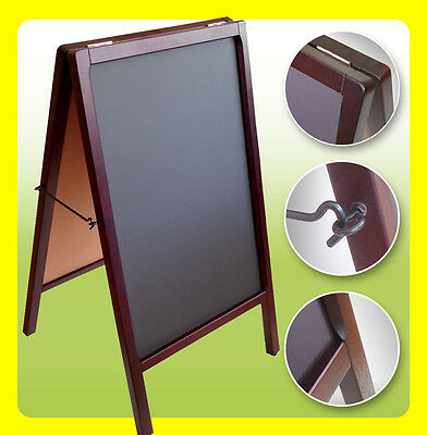 DB Double Sided Sidewalk Sign Sandwich Restaurant Menu Board A-FRAME CHALKBOARD
