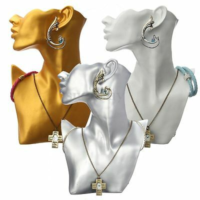 Mannequin Necklace Earring Watch Head Bust Stand Jewelry Holder Display Rack