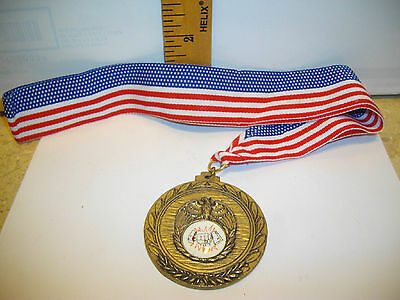 Gold/Bronze Tone Karate Medals School Sports Award & FREE Ribbon FREE SHIPPING