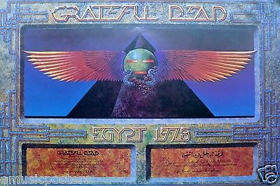 """GRATEFUL DEAD """"EGYPT 1978"""" CONCERT TOUR POSTER - Sphere With Wings By Pyramid"""