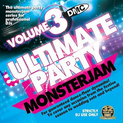 DMC Ultimate Party Monsterjam Vol 3 Continuous 48 Tracks DJ Mixed 79 Minute CD