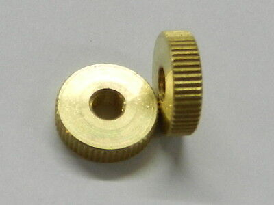 1 Pair 5mm Brass Thumb Nuts to suit MG TA, TB, TC TD, Triumph TR2 & TR3