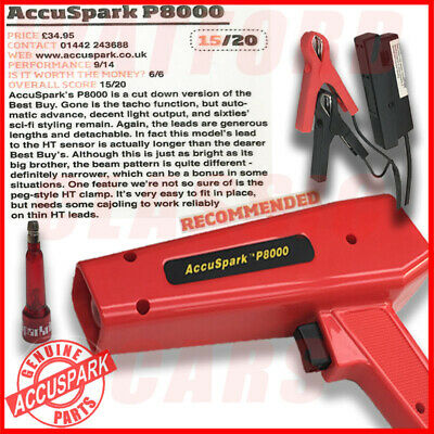 AccuSpark P8000 Ignition Adjustable Strobe Timing Lamp / Light