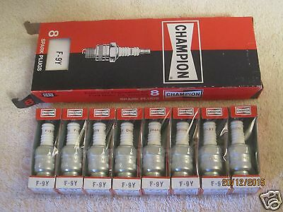 8 Champion Spark Plugs F9Y F-9Y 1966-70 Ford Lincoln Mercury 8 Pack NOS