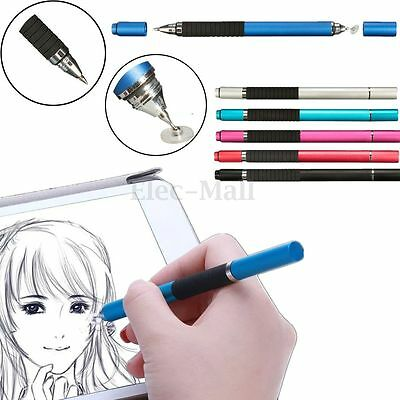 Universal 2in1 Precision Disc Touch Stylus Ballpoint Pen For Cell Phone Tablet