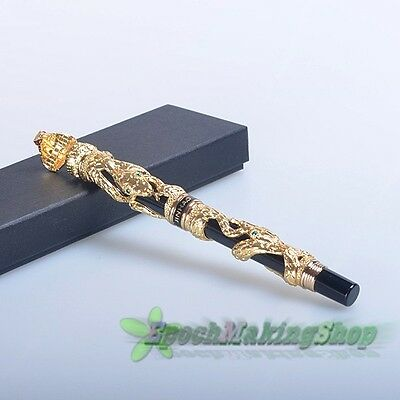 jinhao Snake golden Medium nib fountain pen new
