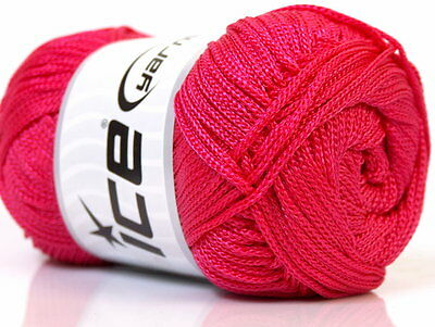 Lot of 4 x 100gr Skeins ICE MACRAME CORD Knitting Wool Pink
