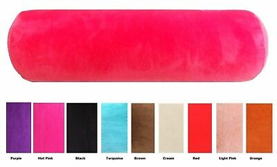 Velour Bolster 4 Sizes 9 Colors Cover + Insert Australian Made Super Soft Fabric