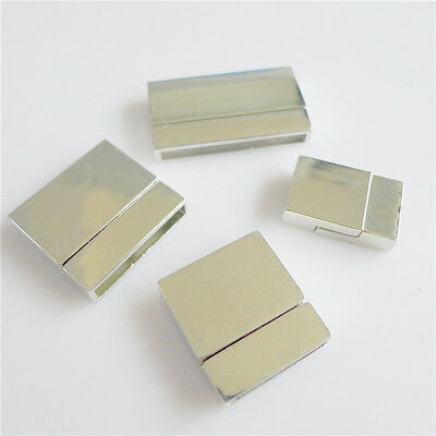 5pcs New Flat Leather Glue In Super-Strong Magnetic Clasps DIY Jewelry Findings