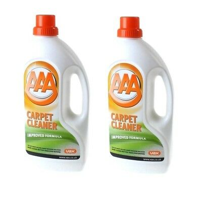 2 x Vax AAA+ Carpet Upholstery Standard Cleaning Solution 1.5L New Improved