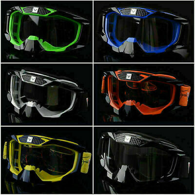 Motorcycle Motocross Off Road Riding MTB MX Goggles Dirt Bike Anti-UV Clear Lens