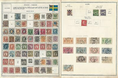 Sweden Collection on Minkus Pages, 1858 to 1970, Clean Lot