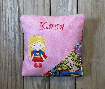 Girl's Personalized Embroidered Girl Superhero Super Girl Tooth Fairy Pillow