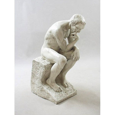 """Giant Thinker by Rodin Garden Statue Sculpture by Orlandi 50"""" Tall F68054"""