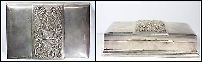 Silversmiths of Siam God Shiva Sterling Silver Box 8.4 Ounces of Fine Silver