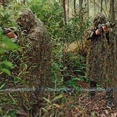 3D Ghillie Suit woodland Tarnanzug Camo Camouflage Kleidung Jagd Free Size