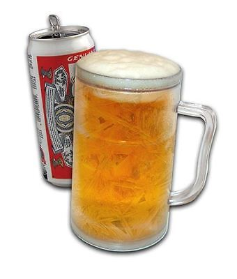 Ice Tankard Super Chilled Frozen Beer Mug Chiller Glass for Parties BBQ Picnic