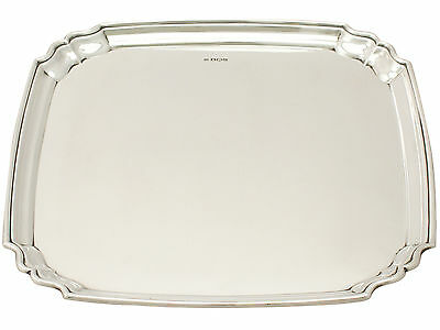 Sterling Silver Salver - Art Deco Style - Antique George V