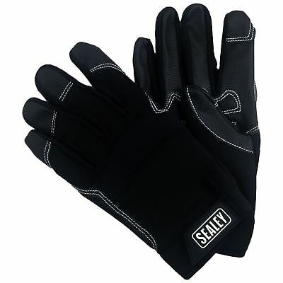 Sealey Tactouch Mechanic Work Gloves Anti Slip Palm XL Washable Builders