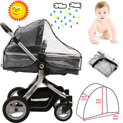 New Rain Cover Raincover For Universal Buggy Pushchair Stroller Pram Baby Car UK