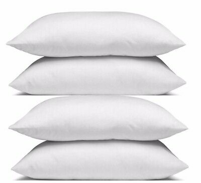 Family 4 Pack Of Bed Pillows, Soft Medium Firm Australian Made Cotton Cover New