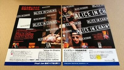 1997 Alice In Chains 2pg JAPAN album promo print ad / mini poster advert 01r