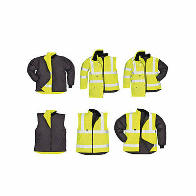 Portwest Hi-vis Reflective Yellow 7-in-1 traffic site  jacket / coat S427