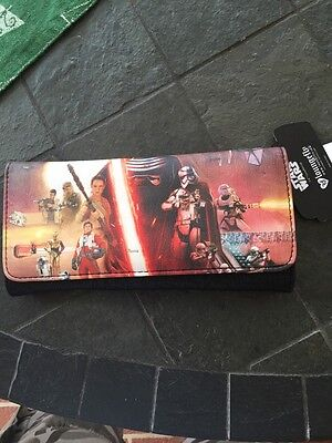 Disney Wallet Star Wars The Force Awakens Trifold Faux Leather loungefly new