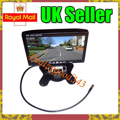 "UK 7"" LCD Color Car Rearview Monitor 2CH Video input For DVD & Reversing Camera"