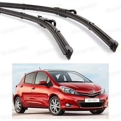 "24"" 14"" Car Front Windshield Wiper Blade Bracketless for Toyota Yaris 2009-2015"
